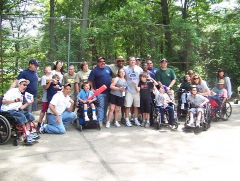 The whole softball gang after our brutal loss.  I think the score was about 900 to 1.